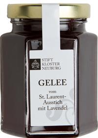 Weingelee vom St. Laurent Ausstich mit Lavendel