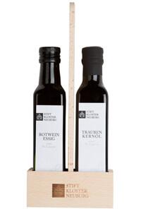 Rotweinessig und Traubenkernöl