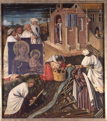 Albrechtsaltar Besuch im Kloster GM 10b