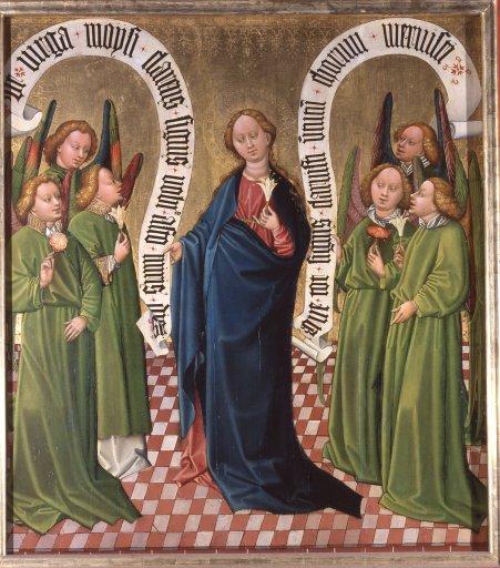Albrechtsaltar – Die Königin der Virtutes