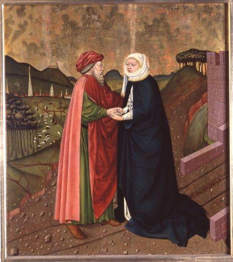GM 25 Albrechtsaltar – Joachim und Anna an der Goldenen Pforte
