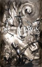 OG 728 Das Kreuz und die Blasierten - Hans Fronius