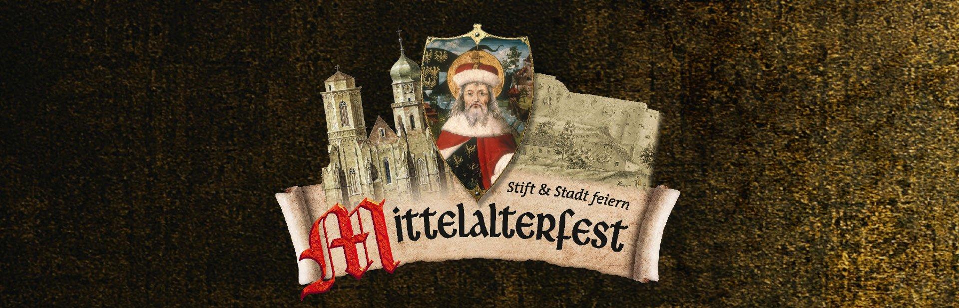 Fahne des Mittelalterfestes im Stift Klosterneuburg
