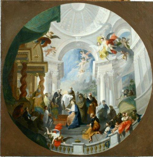 GM 137 Die Darbringung Christi im Tempel - Maulbertsch