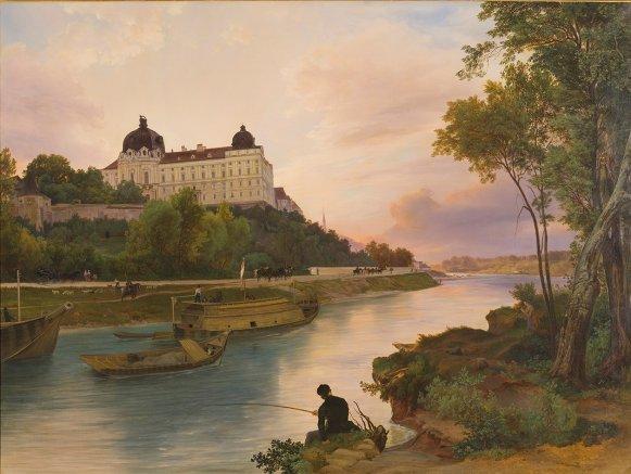 GM 539_klein Blick über die Donau auf das Stift Friedrich Loos