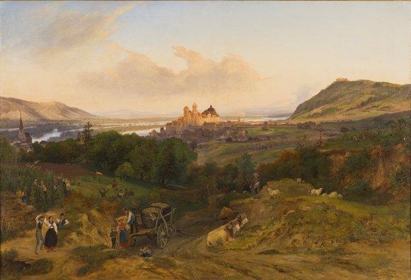 GM 557 Blick auf Klosterneuburg Friedrich Loos (1797-1890)