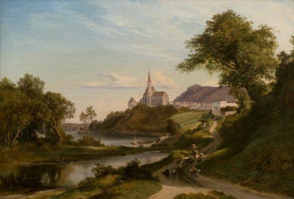GM 823 Blick über die Martinskirche zum Stift - Friedrich Loos
