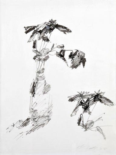 OG 573 Blumenstilleben mit Flasche josef Mikl