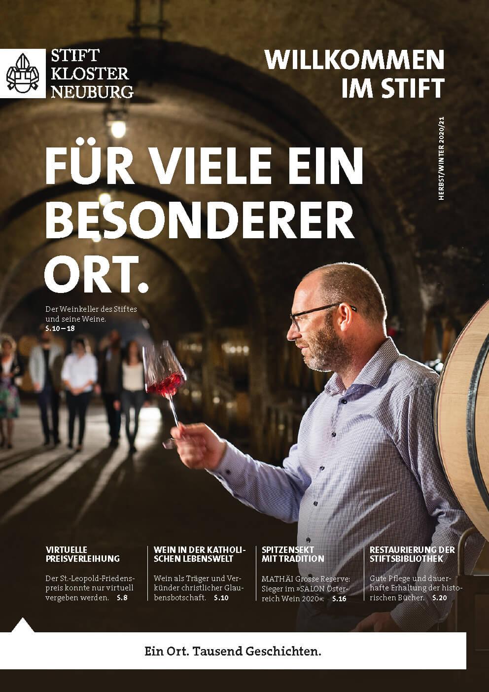 """Cover der Stiftszeitung """"Willkommen im Stift"""" - Ausgabe 2/2020"""