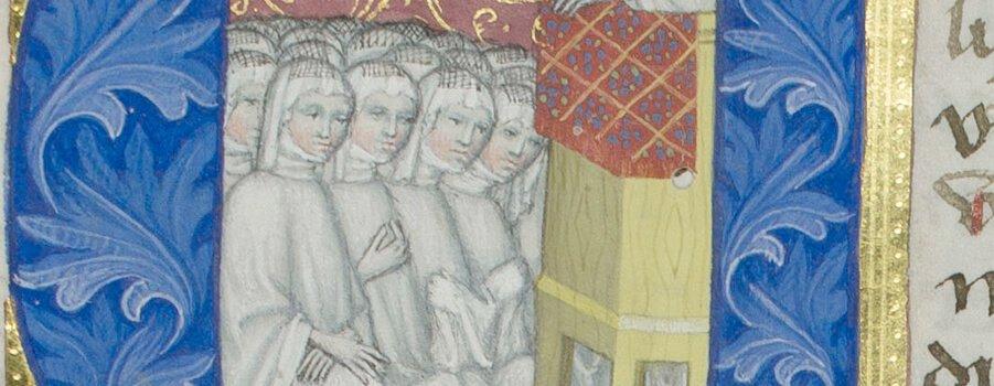 Buchmalerei Chorfrauen im Stift Klosterneuburg